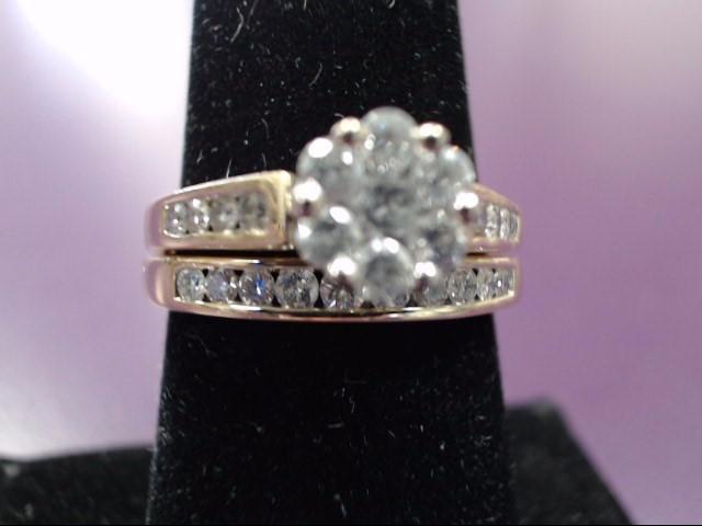 Lady's Diamond Engagement Ring 15 Diamonds .73 Carat T.W. 14K Yellow Gold 4.34g