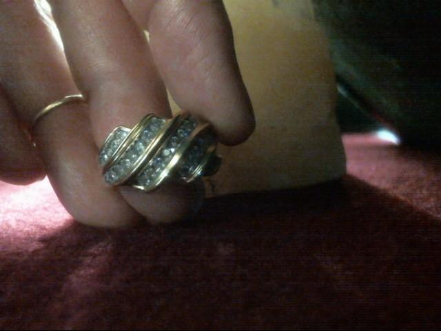 Lady's Diamond Cluster Ring 34 Diamonds .68 Carat T.W. 14K Yellow Gold 4.2dwt
