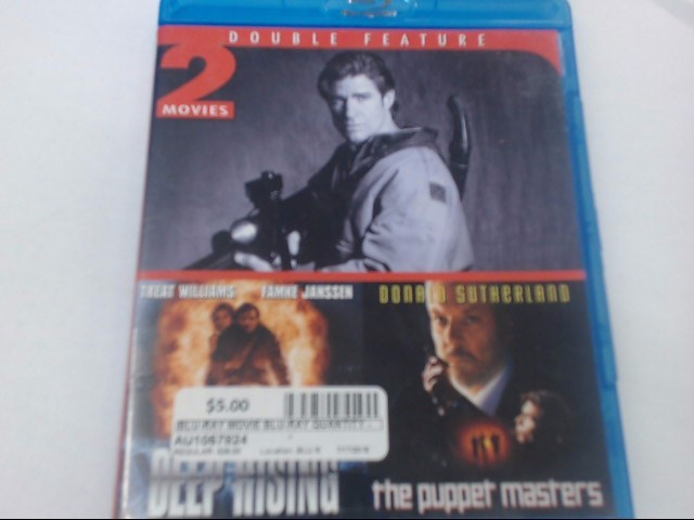 DEEP RISING & THE PUPPET MASTERS - BLU-RAY DOUBLE FEATURE