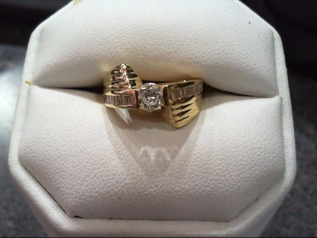 Lady's Diamond Engagement Ring 22 Diamonds .75 Carat T.W. 14K Yellow Gold 5.04g