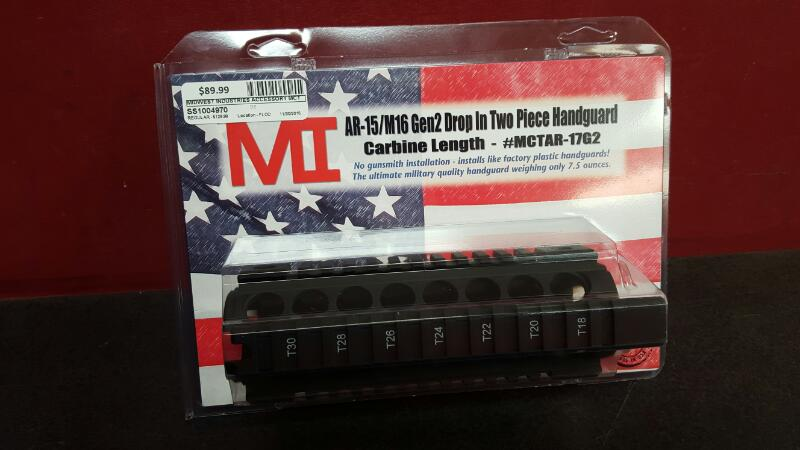 MIDWEST INDUSTRIES MCTAR-17G2 CARBINE LENGTH QUAD RAIL