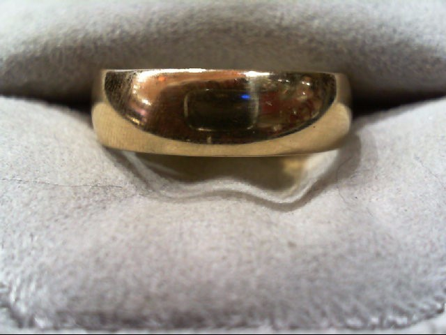 Gent's Gold Wedding Band 14K Yellow Gold 4.8g Size:9