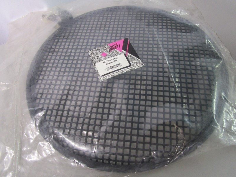 """18"""" PEAVEY METAL SPEAKER GRILL KIT, NEW OLD STOCK, INCLUDES MOUNTING HARDWARE"""