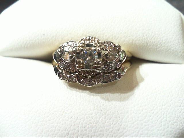 Lady's Diamond Wedding Set 9 Diamonds .31 Carat T.W. 14K 2 Tone Gold 4.3g