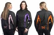 UNIK MODEL 3563.00B, 2XL PURPLE TEXTILE BUTTERFLY JACKET