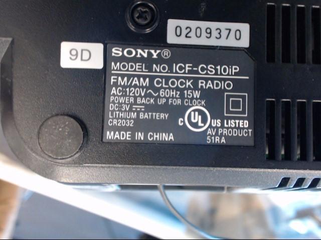 SONY IPOD/MP3 Accessory ICFCS10IP
