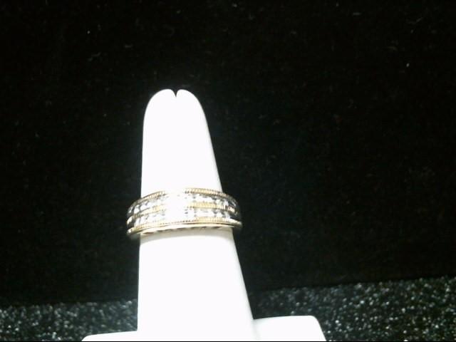 Lady's Gold-Diamond Anniversary Ring 22 Diamonds .110 Carat T.W.