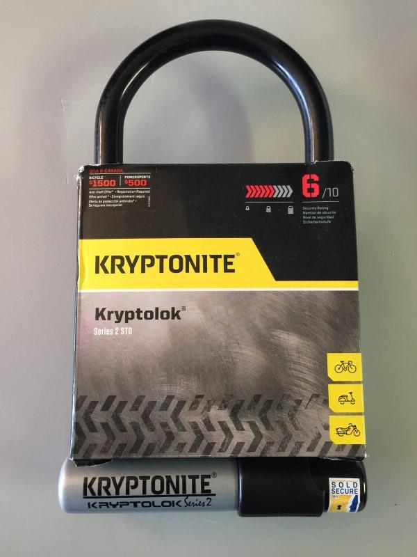 "KRYPTONITE KRYPTOLOK SERIES 2 STD 4""x9"" U-LOCK LEVEL 6 BIKE LOCK"