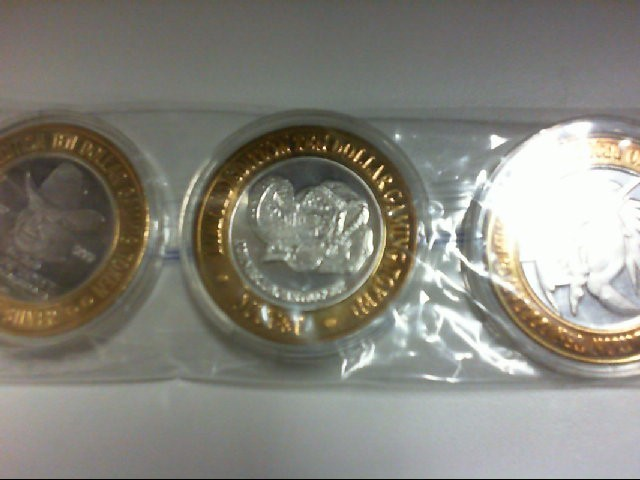 3- GAMING TOKENS .999 SILVER