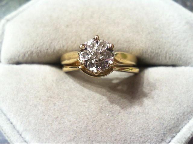 Lady's Diamond Wedding Set 7 Diamonds .29 Carat T.W. 10K Yellow Gold 4.2g