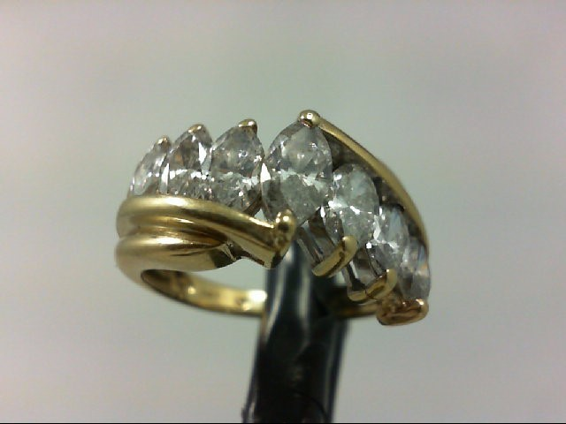 Lady's Diamond Wedding Band 7 Diamonds 2.02 Carat T.W. 14K Yellow Gold 4.62g