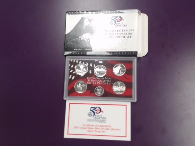 2007 UNITED STATES SILVER QUARTER PROOF SET, GOOD CONDITION.