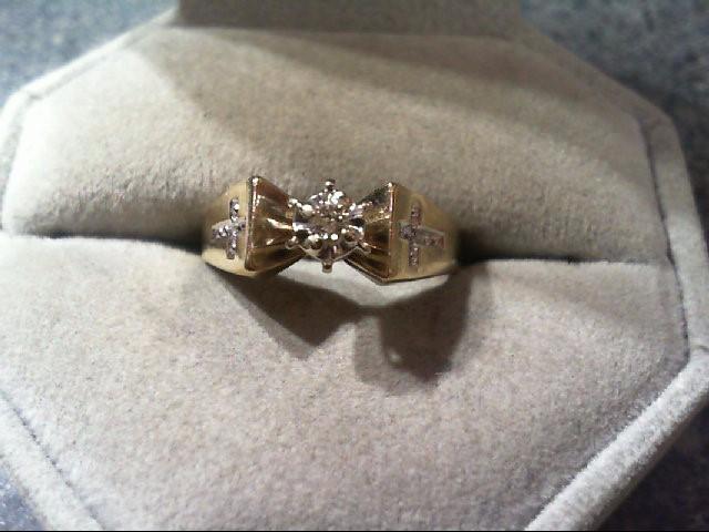 Lady's Diamond Engagement Ring .05 CT. 10K Yellow Gold 2.4g