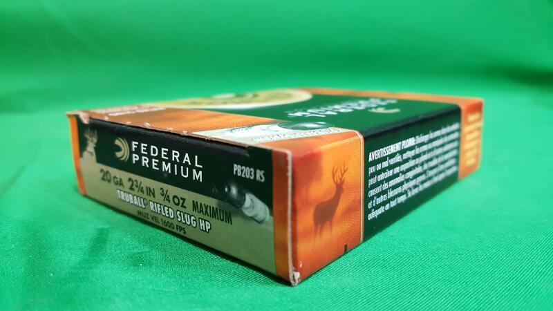 FEDERAL AMMUNITION Ammunition VITAL-SHOK RIFLED SLUGS - 20 GAUGE