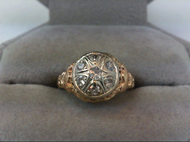 Lady's Diamond Cluster Ring 7 Diamonds .40 Carat T.W. 14K Yellow Gold 2.3g