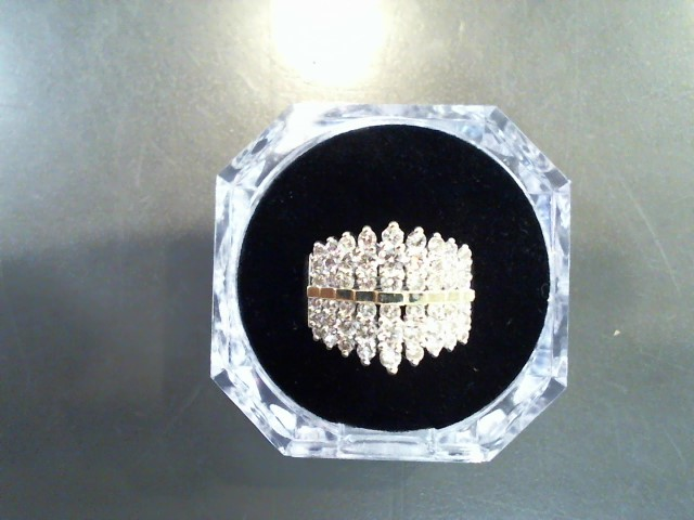 Lady's Diamond Cluster Ring 53 Diamonds 2.65 Carat T.W. 10K Yellow Gold 8.2g