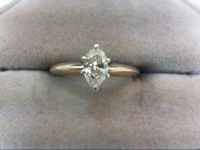 Lady's Diamond Engagement Ring .50 CT. 14K Yellow Gold 2.2g
