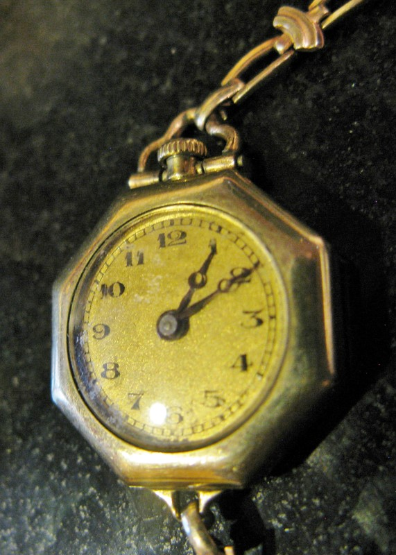 ANTIQUE GIROD OCTAGON POCKET WATCH/WATCH 15J ART DECO STYLE