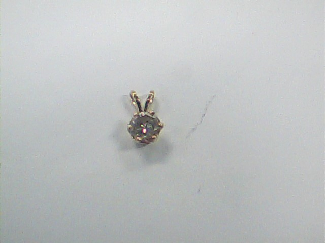 Gold-Diamond Solitaire Pendant .86 CT. 14K Yellow Gold 0.6dwt