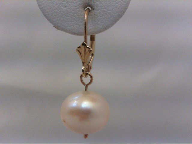 Pearl Gold-Stone Earrings 14K Yellow Gold 4.1g