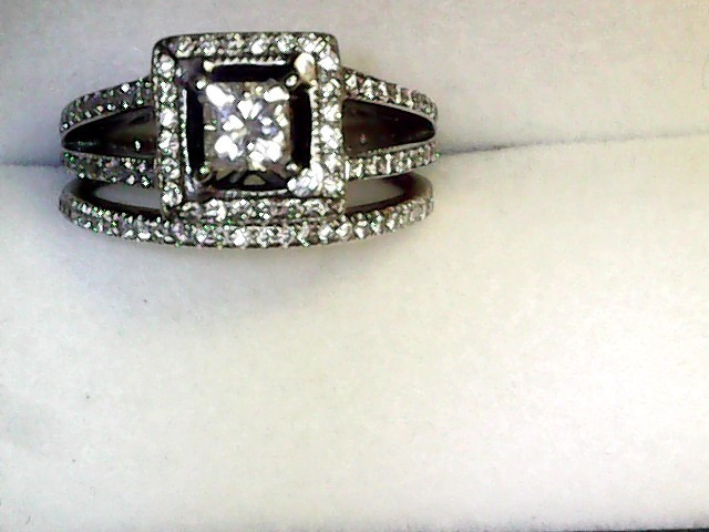 Lady's Diamond Engagement Ring 101 Diamonds 1.40 Carat T.W. 14K White Gold