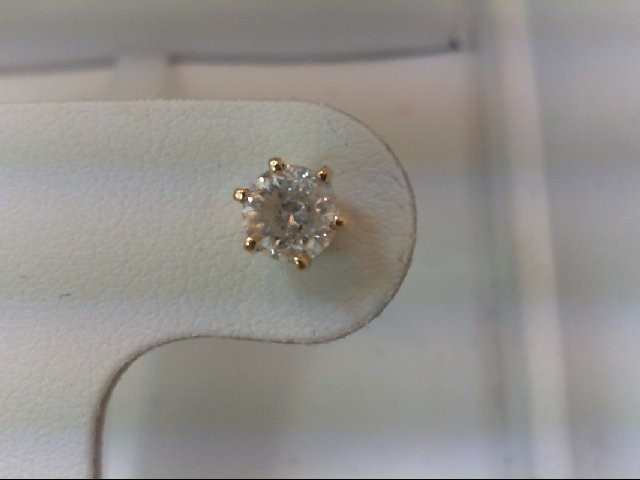 Gold-Diamond Earrings .40 CT. 14K Yellow Gold 1g