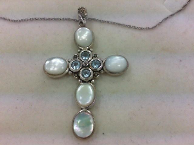 Moonstone Silver-Stone Pendant 925 Silver 12.4g