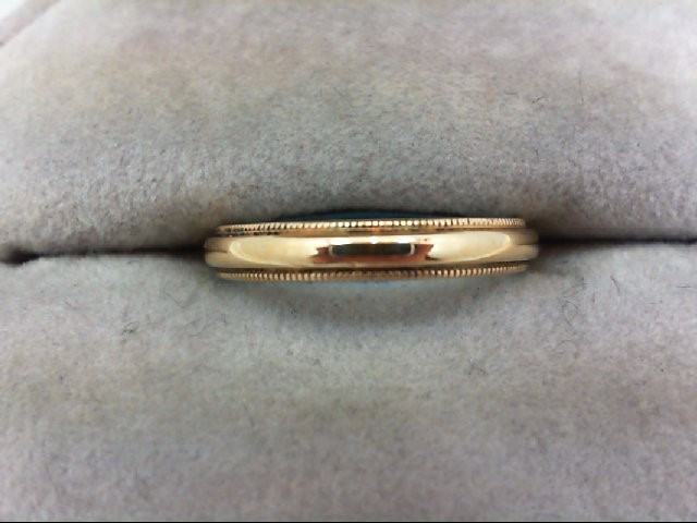 Lady's Gold Wedding Band 14K Yellow Gold 2.2g Size:5