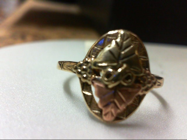 Lady's Gold Ring 10K Tri-color Gold 2g Size:7.25