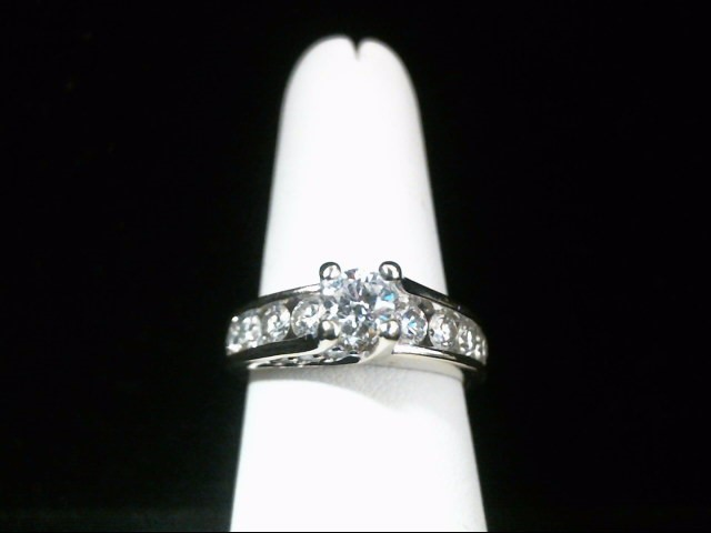Lady's Diamond Engagement Ring 15 Diamonds 1.25 Carat T.W. 14K White Gold 6.8g