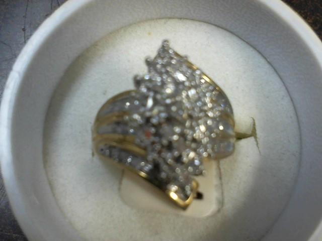 Lady's Diamond Fashion Ring 48 Diamonds .48 Carat T.W. 10K Yellow Gold 5.7g