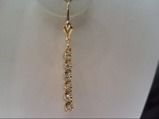 Gold-Diamond Earrings 12 Diamonds .48 Carat T.W. 14K Yellow Gold 3.1g