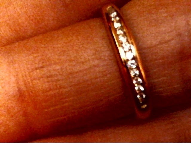 Lady's Diamond Wedding Set 15 Diamonds .94 Carat T.W. 14K Yellow Gold 4.4dwt