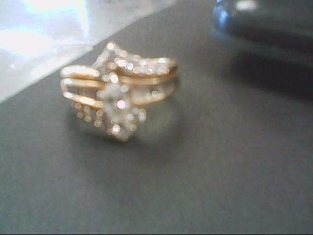 Lady's Gold-Diamond Anniversary Ring 13 Diamonds 1.50 Carat T.W.