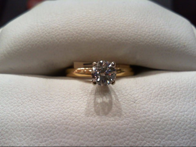 Lady's Diamond Engagement Ring .40 CT. 14K Yellow Gold 1.6g