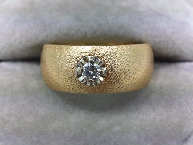 Lady's Diamond Wedding Band 0.1 CT. 14K Yellow Gold 8.5g Size:8