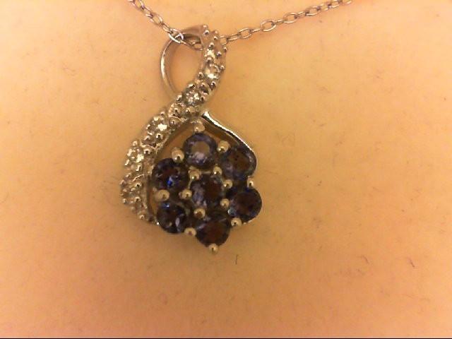 Sapphire Silver-Stone Pendant 925 Silver 3g