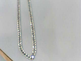 "20"" Gold Link Chain 10K White Gold 2.7dwt"