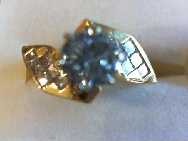 Lady's Diamond Engagement Ring 13 Diamonds 1.38 Carat T.W. 18K Yellow Gold