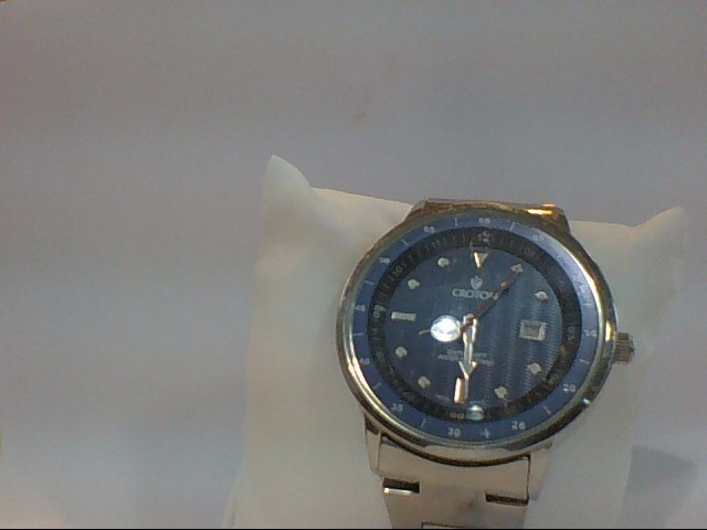 CROTON SS MENS WATCH W/BLUE FACE S\NV M\NV