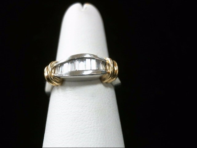 Gent's Diamond Fashion Ring 10 Diamonds .26 Carat T.W. 18K 2 Tone Gold 10.4g