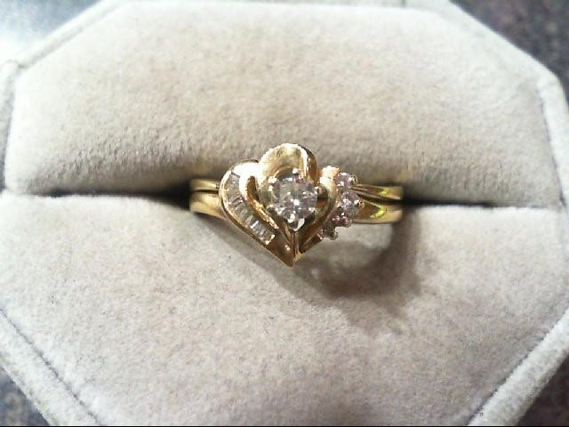 Lady's Diamond Wedding Set 13 Diamonds .24 Carat T.W. 14K Yellow Gold 3.6g