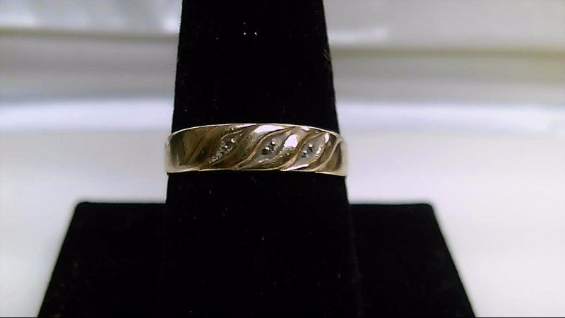 Gent's Gold-Diamond Wedding Band .004 CT. 10K Yellow Gold 2g