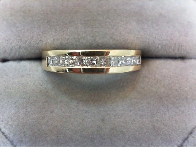 Lady's Diamond Wedding Band 12 Diamonds .72 Carat T.W. 14K Yellow Gold 4.6g