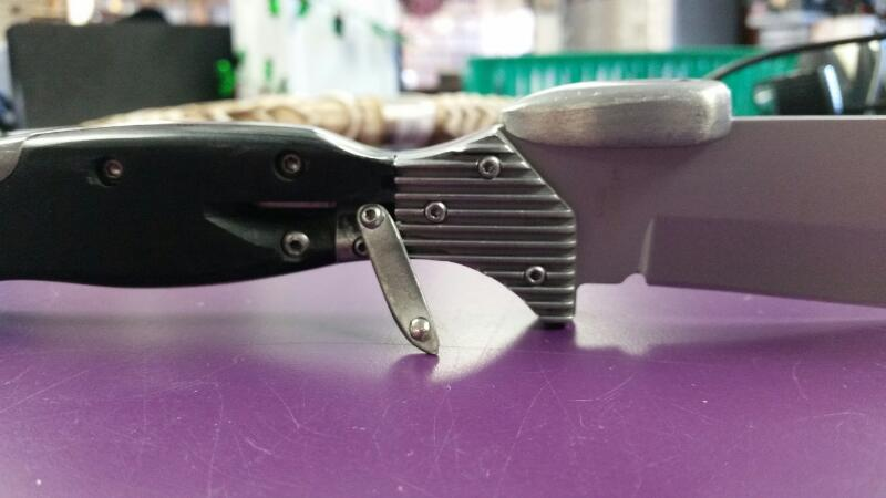 CUSTOM KNIFE COLLECTIBLE MOTORCYCLE KICKSTAND FIXED BLADE KNIFE