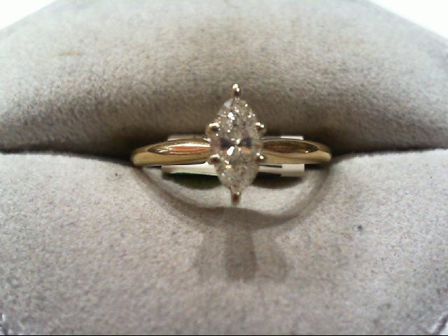 Lady's Diamond Engagement Ring .43 CT. 14K Yellow Gold 1.9g