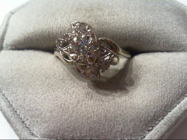 Lady's Diamond Fashion Ring 7 Diamonds .49 Carat T.W. 14K White Gold 3.3g
