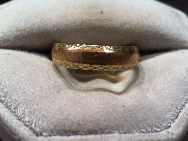 Gent's Gold Wedding Band 14K Yellow Gold 3.8g Size:7.5