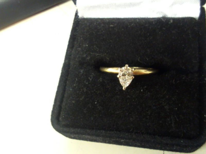 Lady's Diamond Solitaire Ring .30 CT. 14K Yellow Gold 1.7g