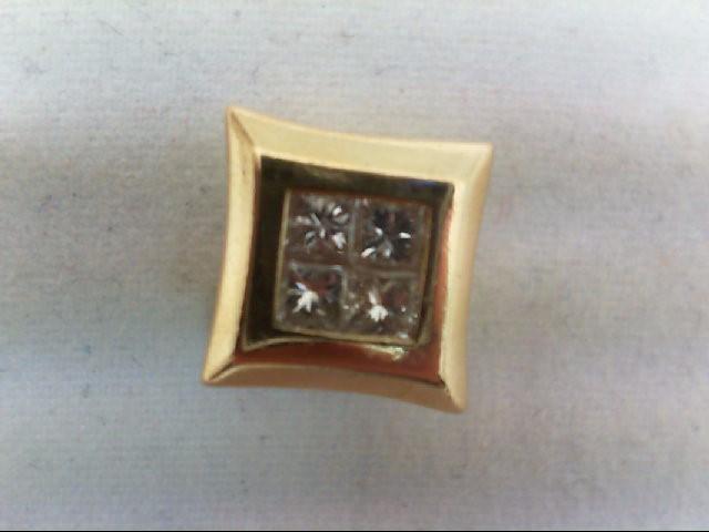 Gold-Multi-Diamond Pendant 4 Diamonds .48 Carat T.W. 14K Yellow Gold 3.7g